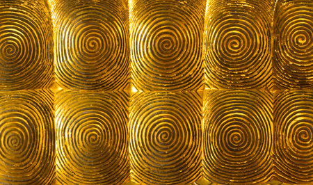 abstract metal pattern, craft in Thailand temple. photo