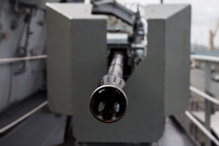 muzzle: tip muzzle of military guns Stock Photo