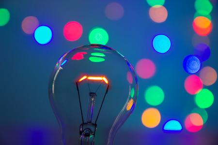 light bulb in bokeh background Stock Photo