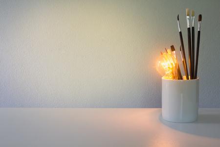 Art idea inspiration concept on the table Standard-Bild