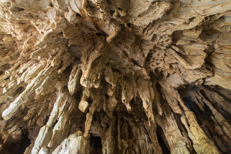 Formation of rock in the cave Standard-Bild