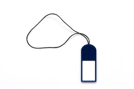 Blank price tag label on white background