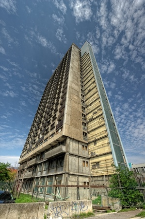 Uninhabited high-rise tower in P�cs - Hungary