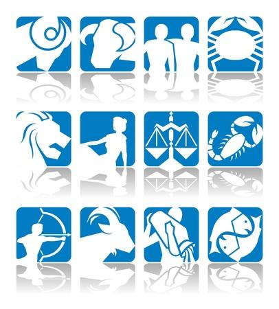 aries: Oroscopo simboli in 2D grafica - illustrazione astrologia zodiaco