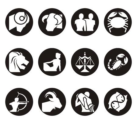 Horoscope symbols in 2D graphic - astrology zodiac illustration Stock Illustration - 11737417