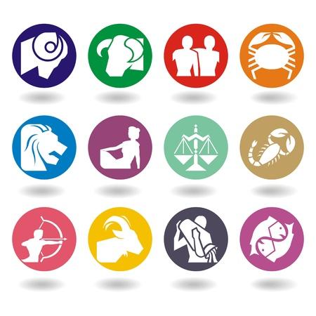 jungfrau: Horoskop Symbole in 2D-Grafik - Astrologie, Tierzeichen, Illustration