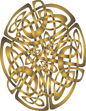 celts: Abstract Celtic patterns with knot designs in a circle