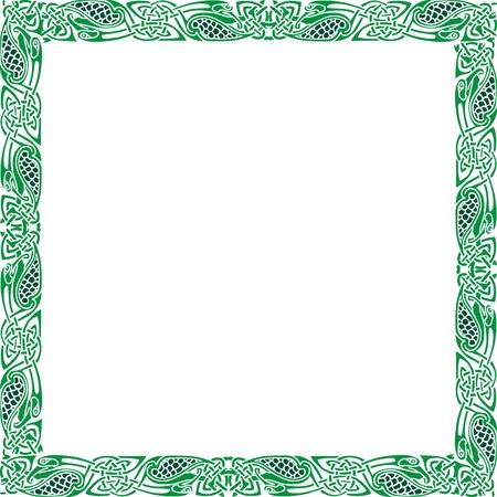 keltische muster: Zusammenfassung keltische Muster mit Blumen-Designs an der Grenze