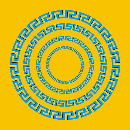 perceive: greek sign optical illusion spin cicle - vector Illustration