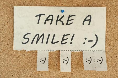 tearaway: Tear off paper notice on a Corkboard