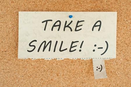 Tear off paper notice on a Corkboard