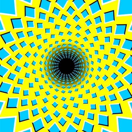 illusions: Optical illusion black hole - vector