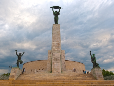 liberation: Liberation Monument on Gellert Hill. Budapest, Hungary