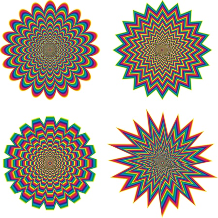 seem: Hypnotic optical illusion - vector Illustration