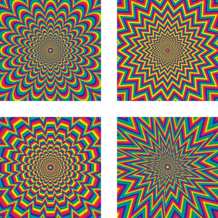 quickly: Hypnotic optical illusion - vector Illustration