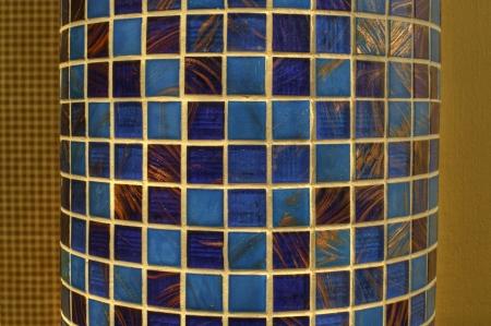 Decorative blue mosaics in a bathroom photo