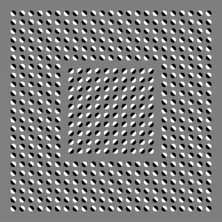 Dark and white circles are in movement