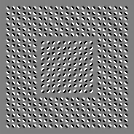 arte optico: Los c�rculos oscuros y blancos est�n en movimiento