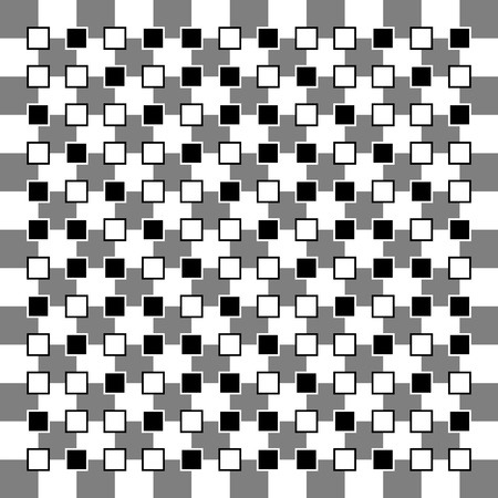 Illusion of non parallel squares are visible Vector