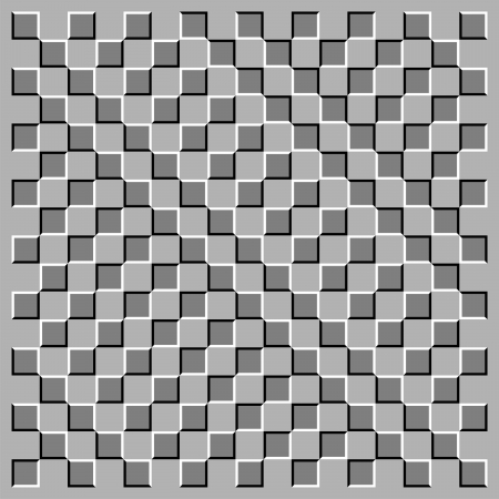 Squares are in movement Иллюстрация