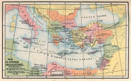 biblical: Vintage map of biblical countries Stock Photo