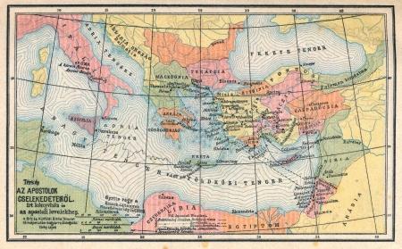 Vintage map of biblical countries Фото со стока