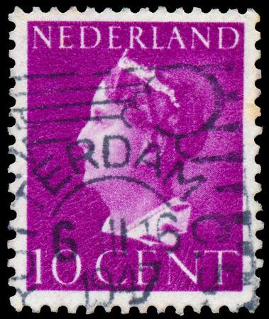 NETHERLANDS - CIRCA 1940: A stamp printed in the Netherlands shows Queen Wilhelmina, circa 1940.