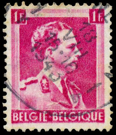 leopold: BELGIUM - CIRCA 1938: A stamp printed in Belgium, shows Leopold III of Belgium, circa 1938