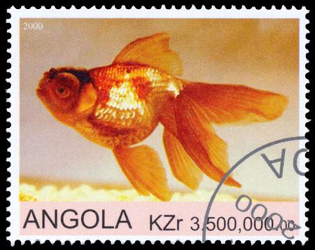 ANGOLA - CIRCA 2000: a stamp printed by Angola shows Goldfish