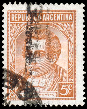 mariano: ARGENTINA - CIRCA 1935: a stamp printed by Argentina, shows Mariano Moreno