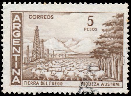 tierra: Stamp printed by Argentina, Tierra del Fuego Shows