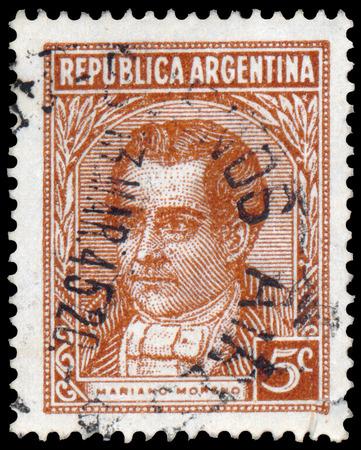 ARGENTINA - CIRCA 1935: a stamp printed by Argentina, shows Mariano Moreno