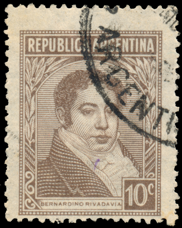 printed: Stamp printed by Argentina, Bernardino Rivadavia Shows