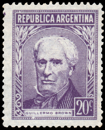 ARGENTINA - CIRCA 1956: a stamp printed in Argentina shows Guillermo Brown