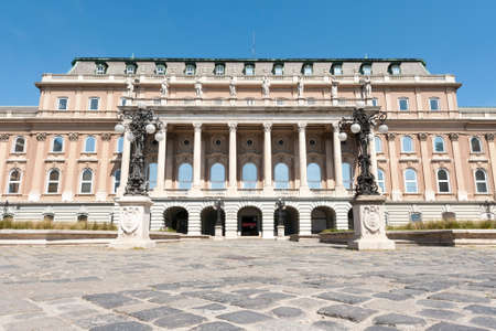BUDAPEST, HUNGARY - APRIL 24, 2020: Buda castle (Royal Palace) inner courtyard, Budapest, Hungary Editorial