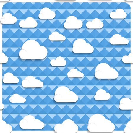 Seamless clouds and sky in the mesh, simply remove the layer of the frame. Vector illustration.