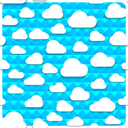 Seamless clouds and sky in the mesh, Vector illustration.