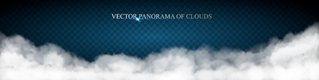 cloud panorama Vector illustration. Illustration