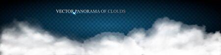 cloud panorama Vector illustration. Illustration