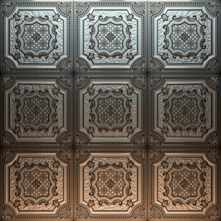 Vintage decorative pattern. 3D rendering. Banque d'images