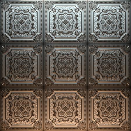 Vintage decorative pattern. 3D rendering. Фото со стока