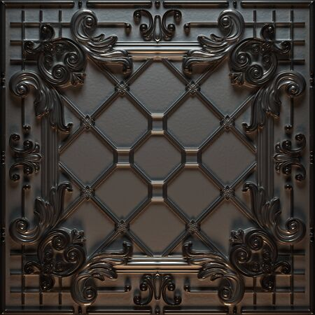 Vintage decorative pattern. 3D rendering. Stock Photo