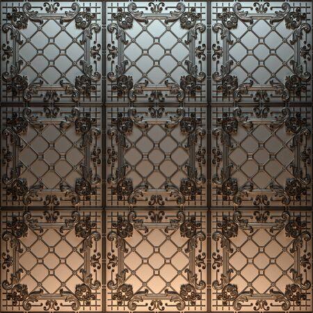 Vintage decorative pattern. 3D rendering. Stok Fotoğraf