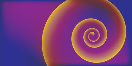 Vector abstract background, color gradient spiral. Glitch effect, video monitor distortion. Color model CMYK. Ilustracja