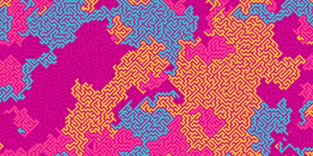 Vector abstract maze pattern,colorful background, blank template for your ideas Ilustracja