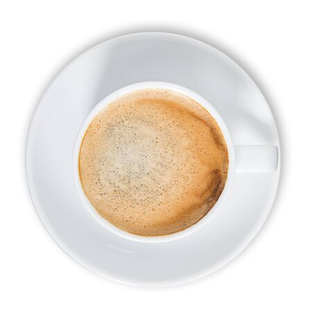 Top view of Coffee Cup filled with coffee Stock fotó