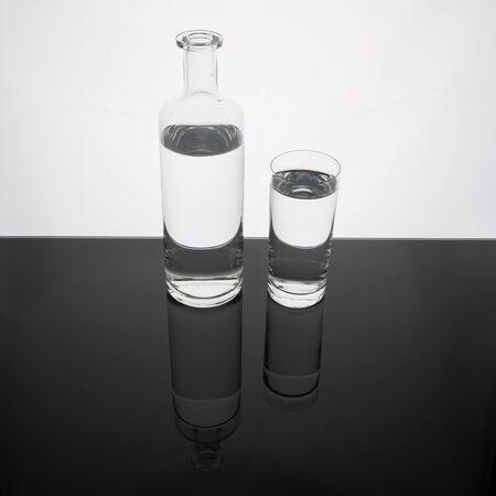 Water in a glass bottle Banco de Imagens