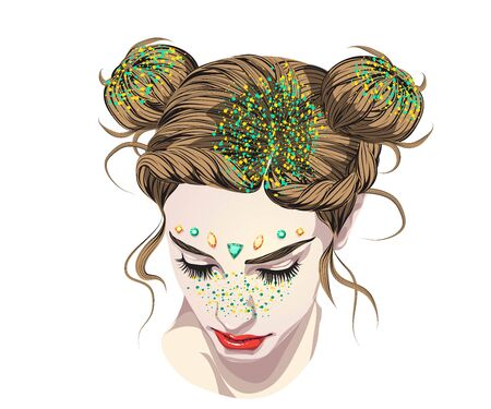 The most popular hairstyles COACHELLA Sequins for hair,
