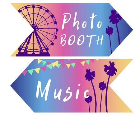 Pastel Coachella Themed Festival Printed, Package Set. Print version. Invitation included. stylish party camp or festival