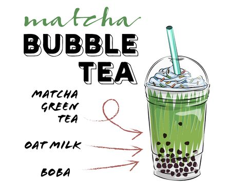 Bubble tea cup design collection, Yummy drinks, soft drinks with doodle style banner, Bubble milk tea ads with delicious tapioca and pearl, bubble tea menu graphic template Illustration